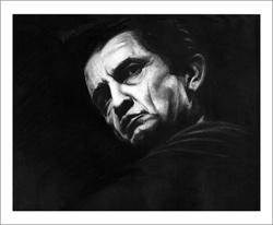 Johnny Cash Fine Art Print from Ryan Fritz