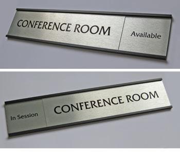 Sliding Office Sign Nameplates