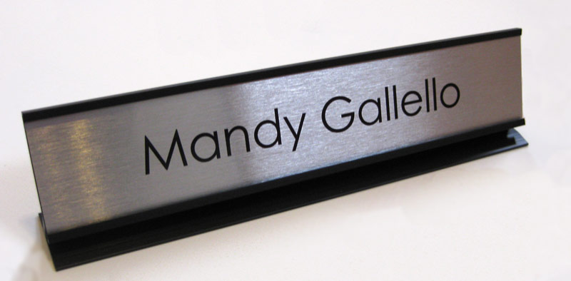 Desktop Nameplates and Check Out Signs