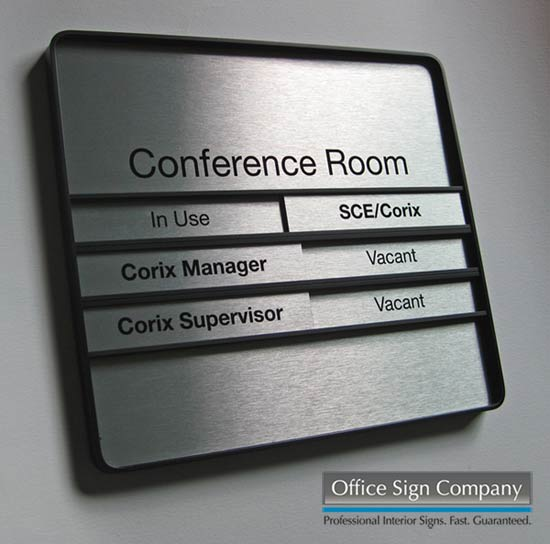 Sliding Office Door Signage & Employee Signs