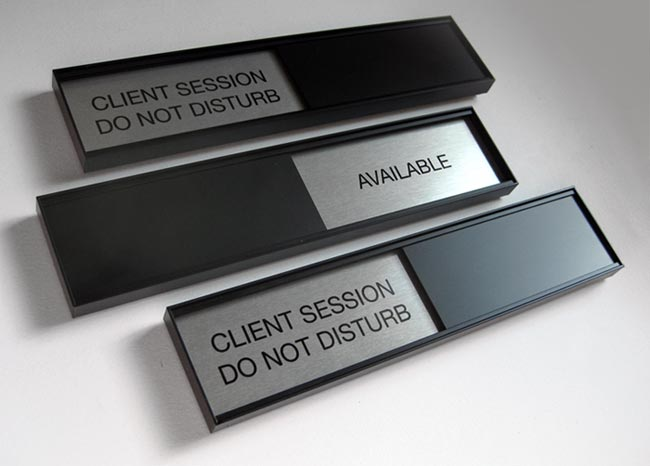 Custom Conference Room Sign and Slider Signs