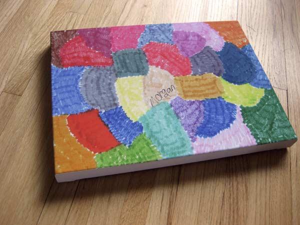 Kids art prints to canvas