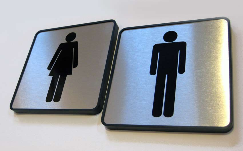 Stylish Restroom Signs for Restaurant and Professional Industeries